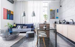 Zobacz pomysł na salon z kuchnią