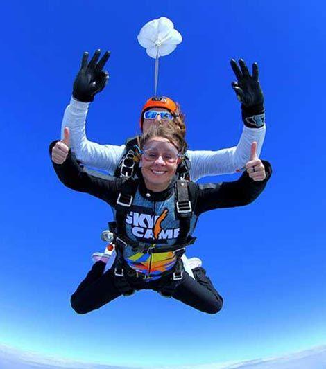 skok ze spadochronem dla chłopaka pod choinkę